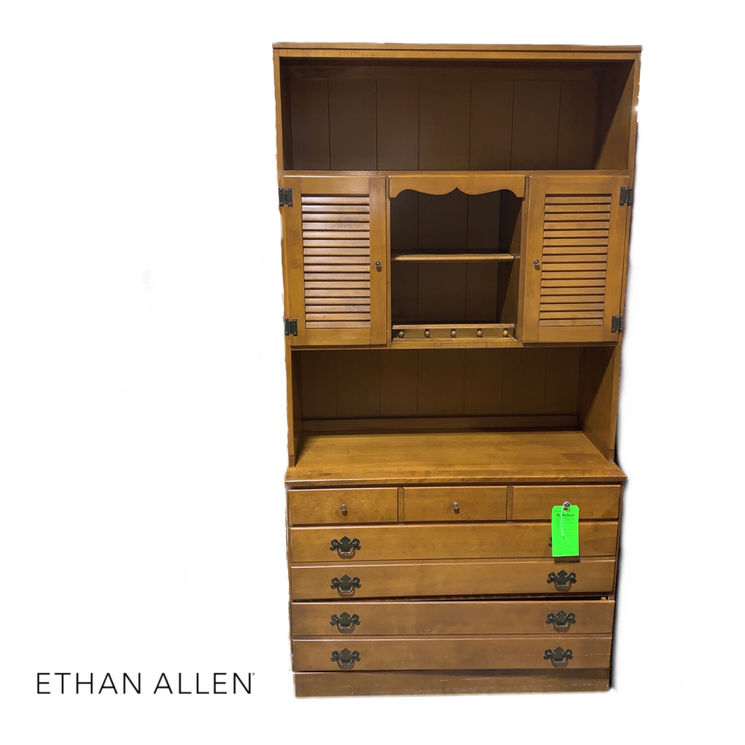 Ethan Allen Dresser With Hutch