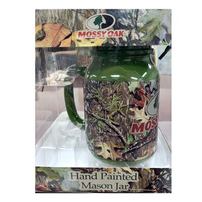 Mossy Oak Hand Painted Mason Jar