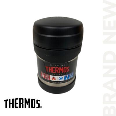 Black 10 Oz Stainless Steel Thermos Food Jar