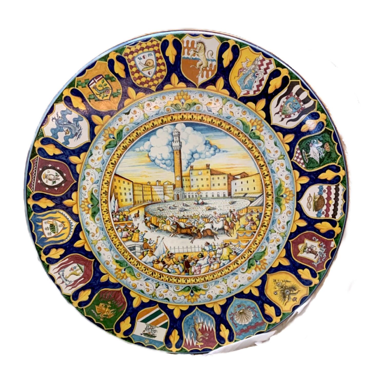 Round Made in Italy Ceramic Decorative Piece