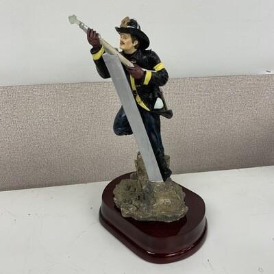 Hand Painted Heroic Fireman Figurine