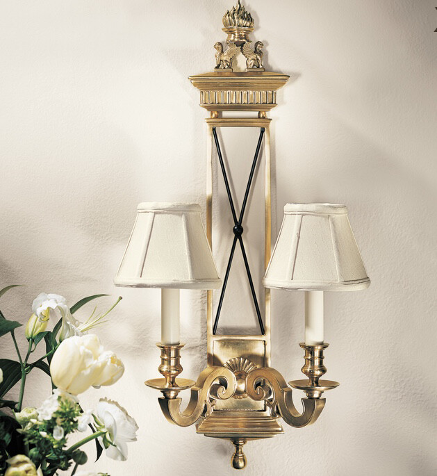 Solid Brass Swanley Sconce