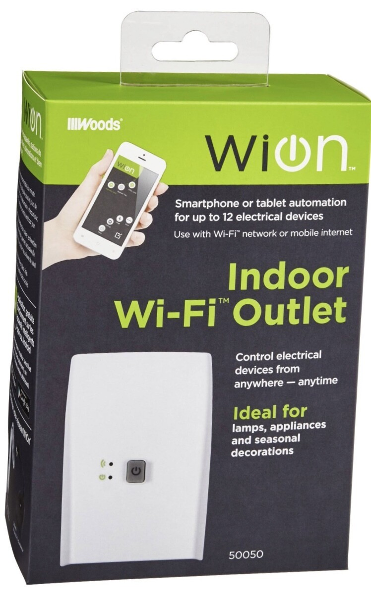Woods Wion Indoor Wi-Fi Outlet