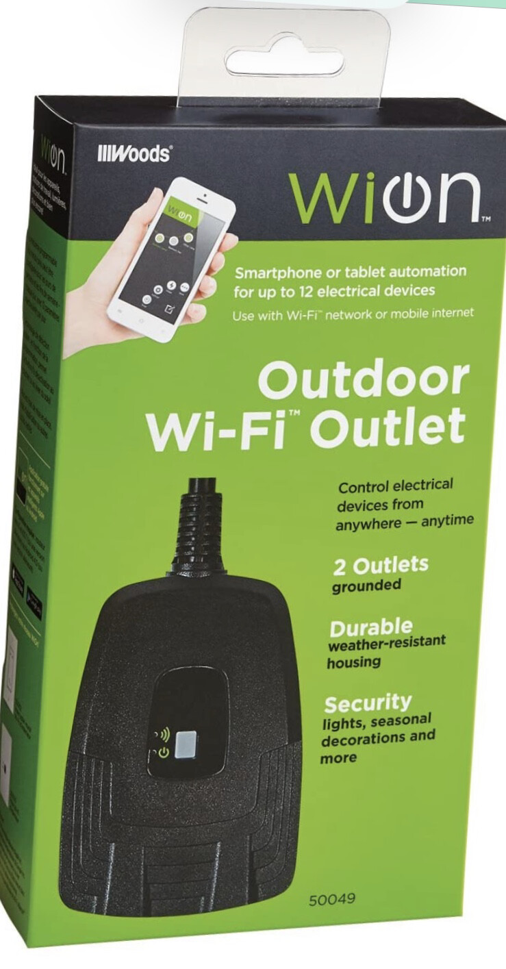 Woods Wion Outdoor Wi-Fi Outlet