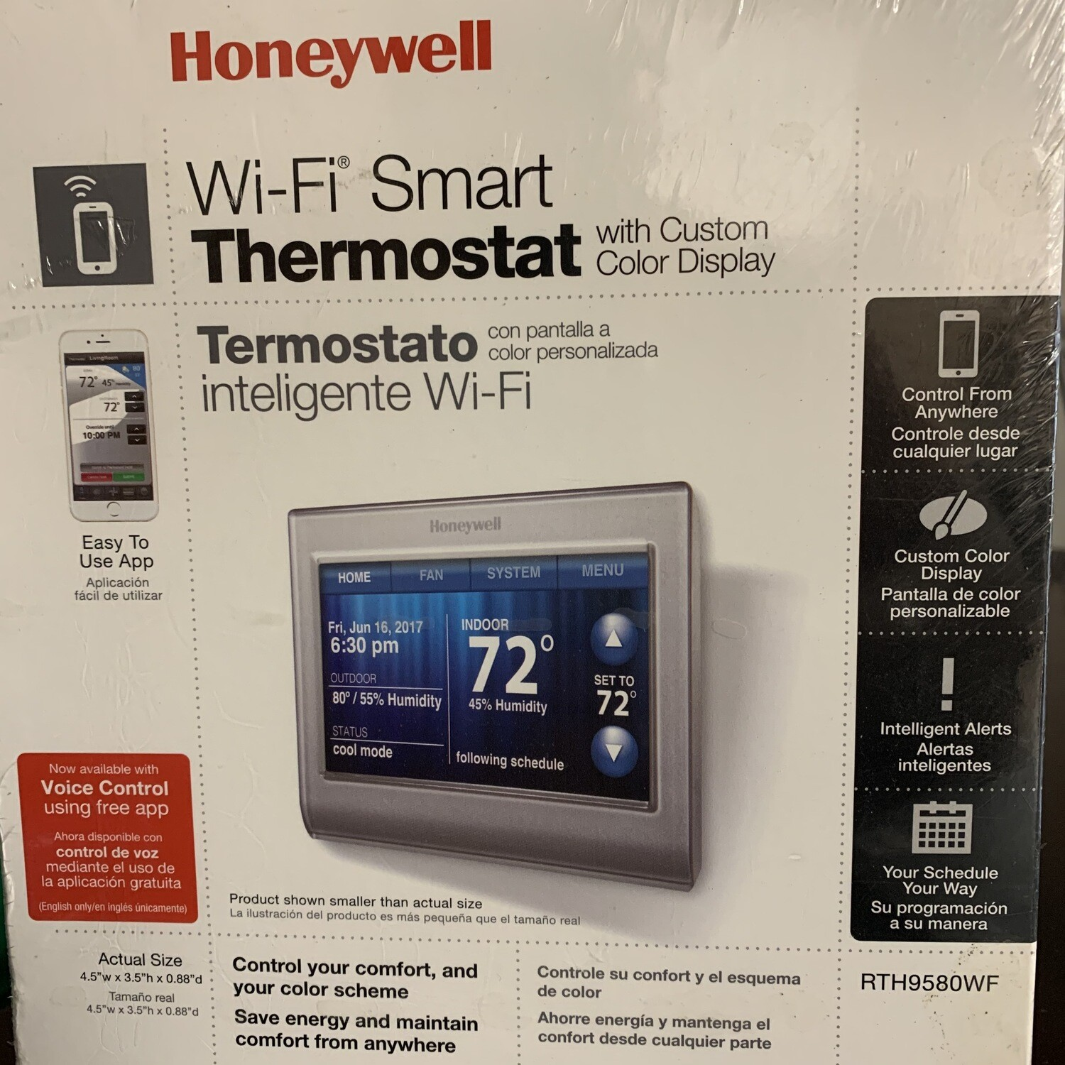 Honeywell Wi-Fi Smart Thermostat With Custom Color Display