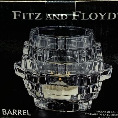 Fitz & Floyd Barrel Votive Tea Light Holder