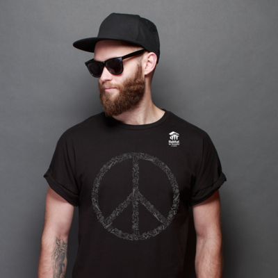 Black Peace T-Shirt with $20 Donation!