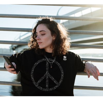 Black Peace Long-Sleeve Shirt with $30 Donation!