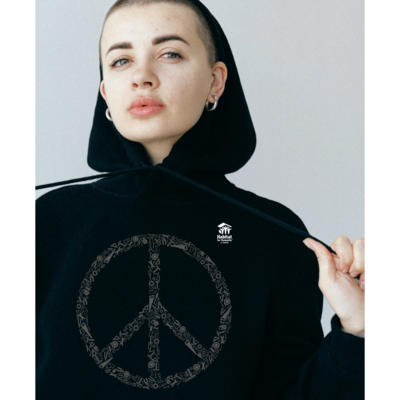Black Peace Sweatshirt with $40 Donation!