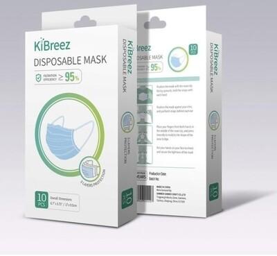 KiBreez Disposable Mask 10 Pack