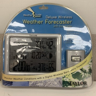 Taylor Deluxe Wireless Weather Forecaster With Barometer