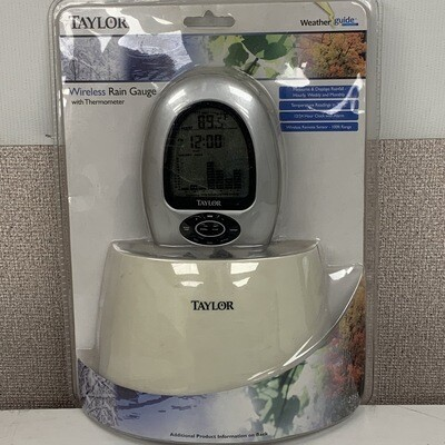 Taylor Wireless Rain Gauge With Thermometer