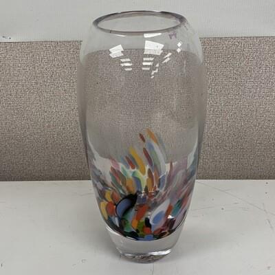 Carnival Confetti Hand Blown Glass Vase