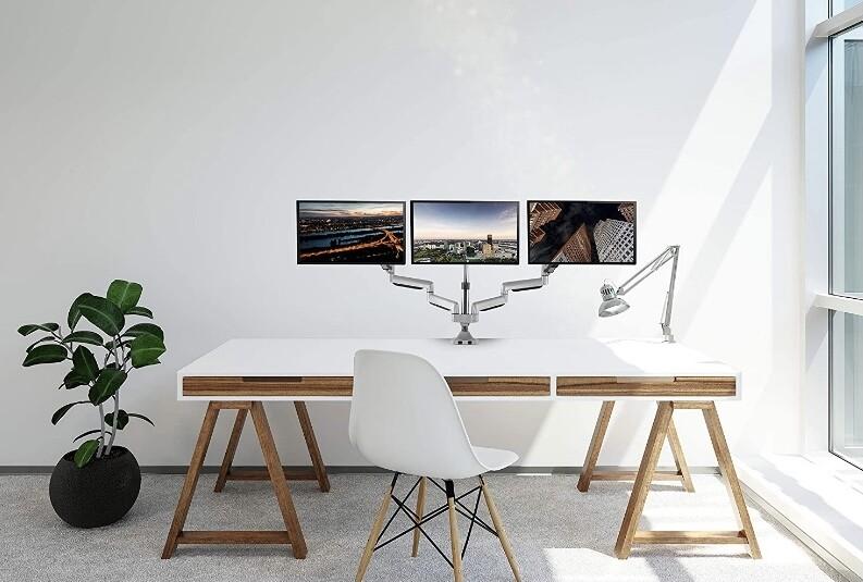 TechOrbits Three Monitor Smart Swivel Stand Mount