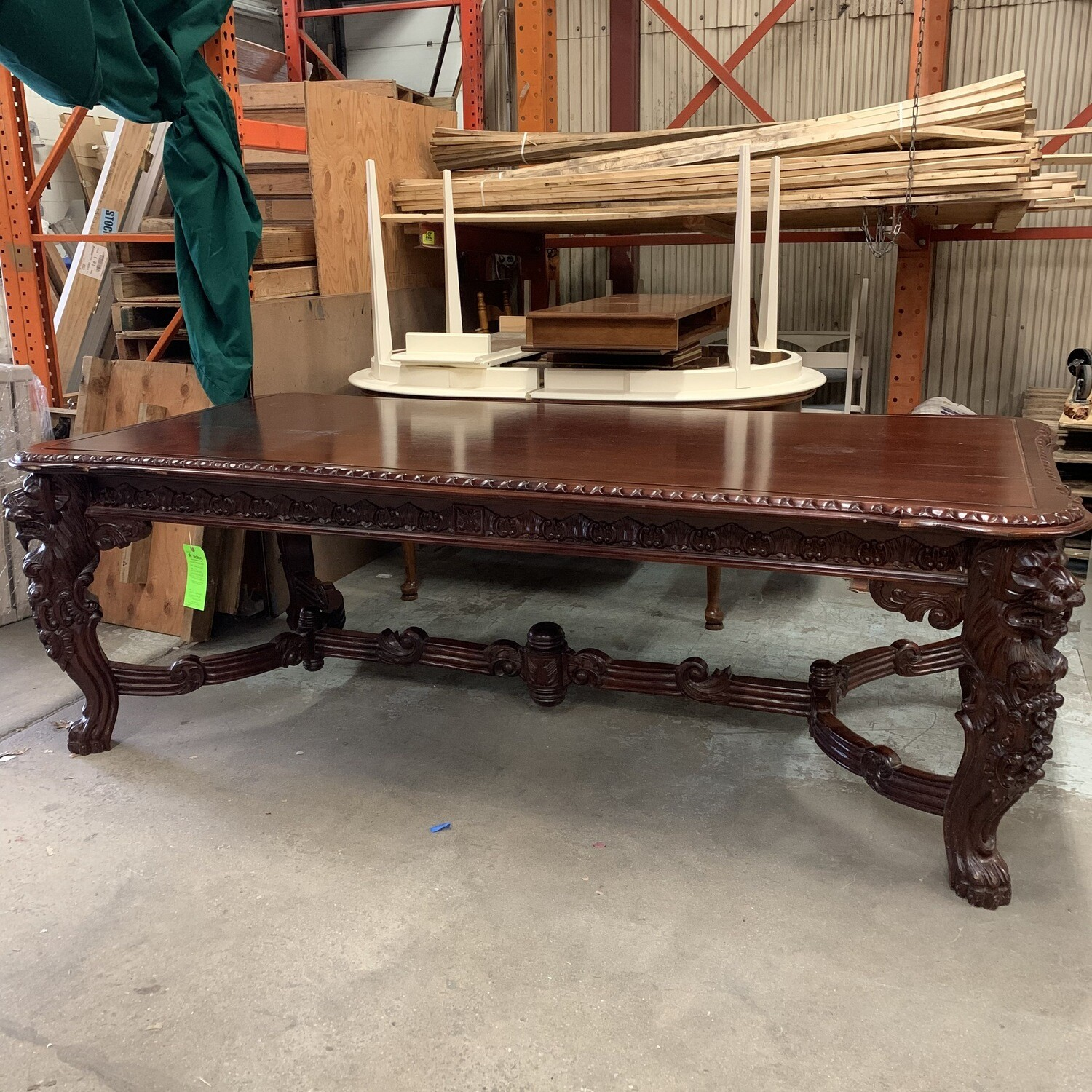 O/S Carved Dining Table Design Toscano