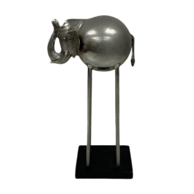 Tall Leg Metal Decorative Elephant