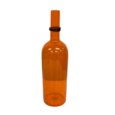 Tall Orange Decorative Vase