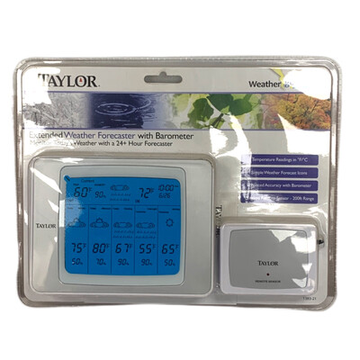 Taylor Extended Weather Forecaster With Barometer