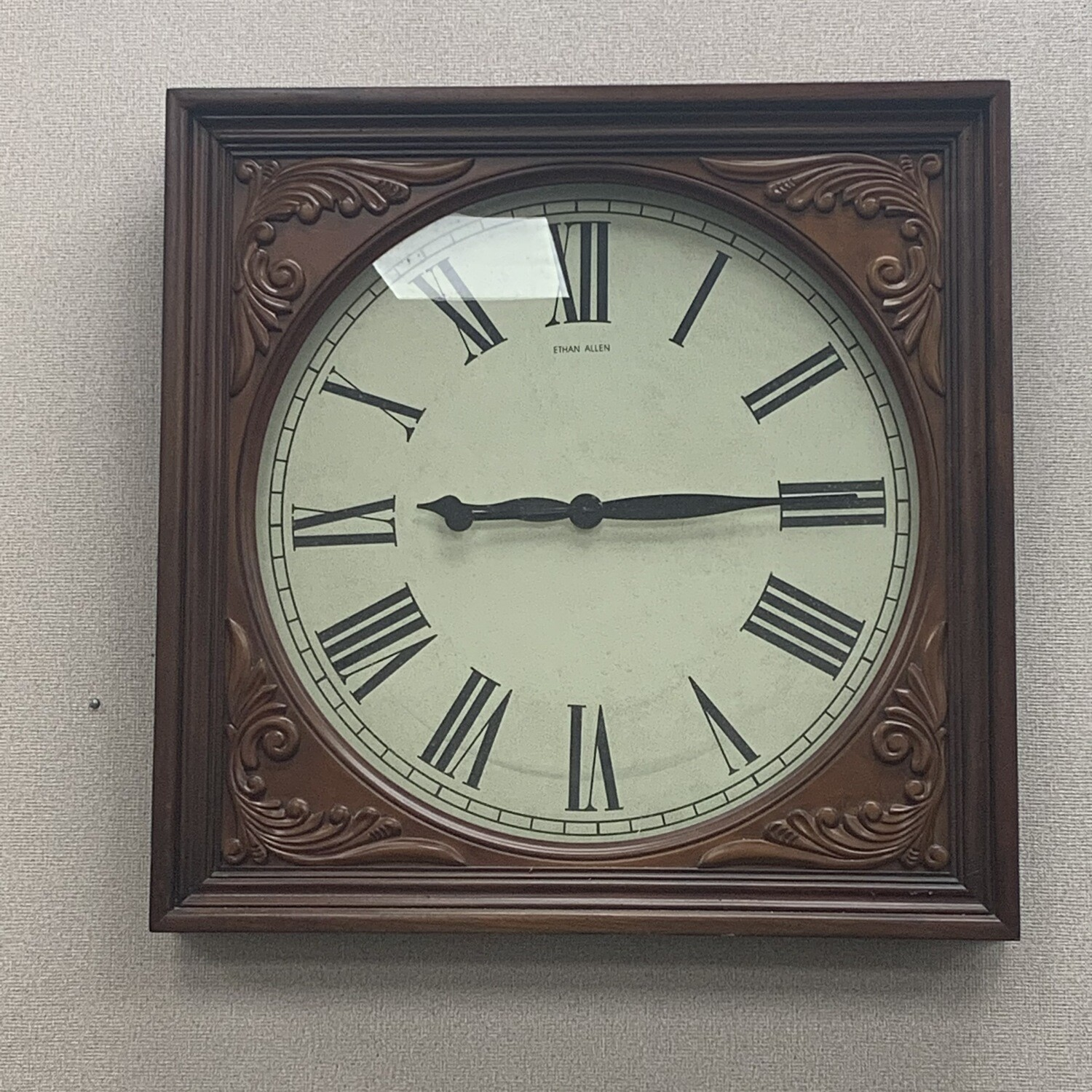Ethan Allen Wood Framed Wall Clock