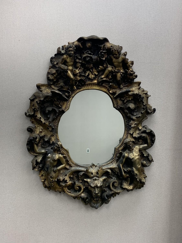 Finesse Original Vintage Gothic Angel Wall Mirror