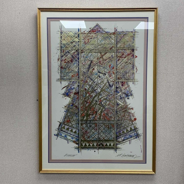 """William Gatewood Signed """"Kimono"""" Framed Print 30"""" X 42"""""""
