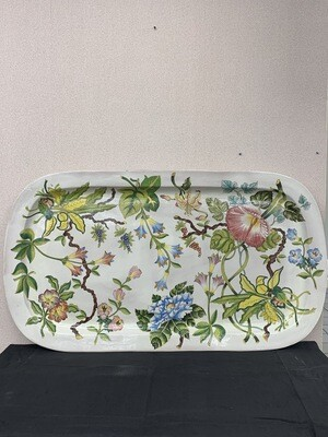 Large  Floral Hand Painted Decorative Piece