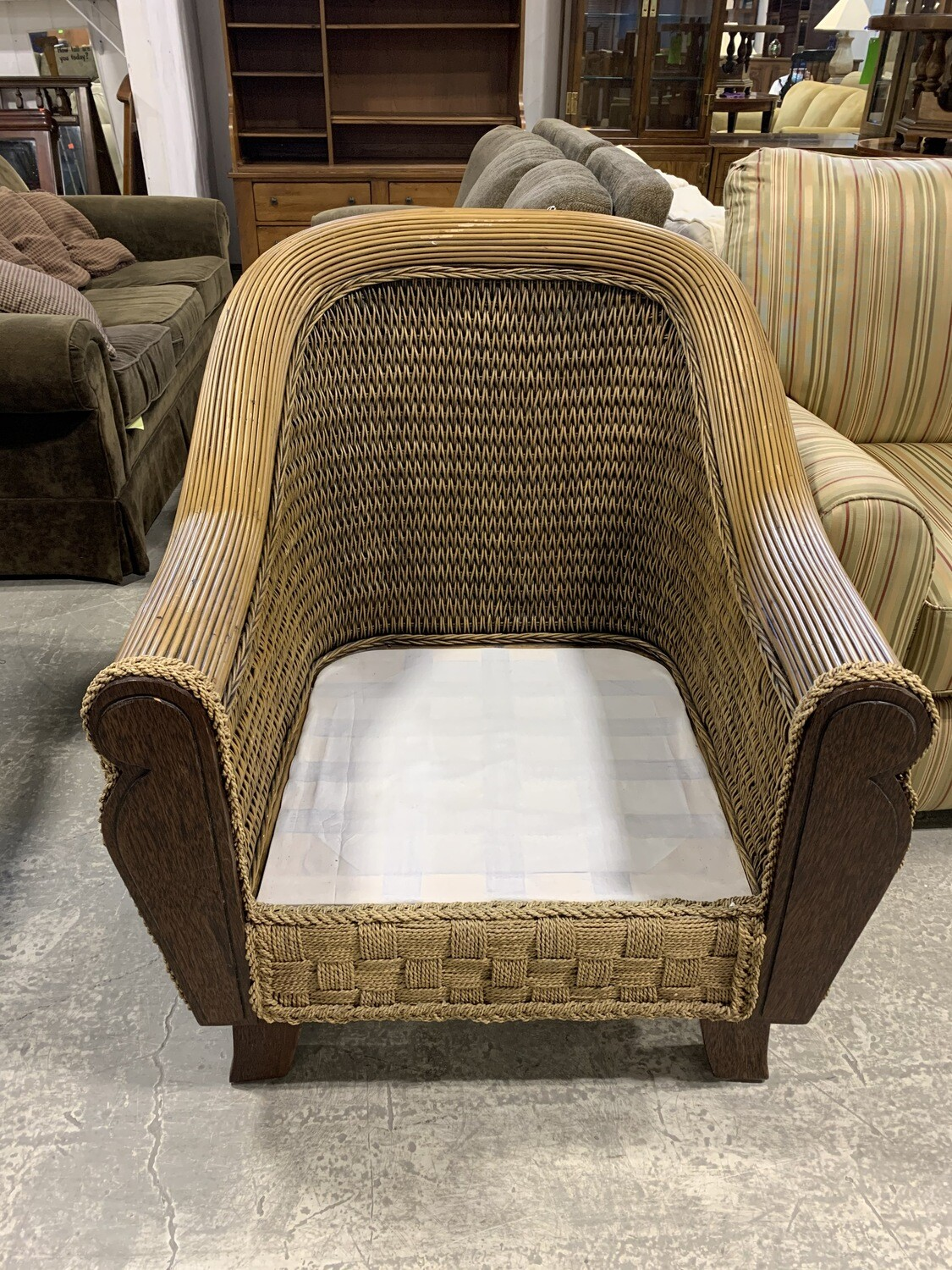 Solid Framed Resin Wicker Chair