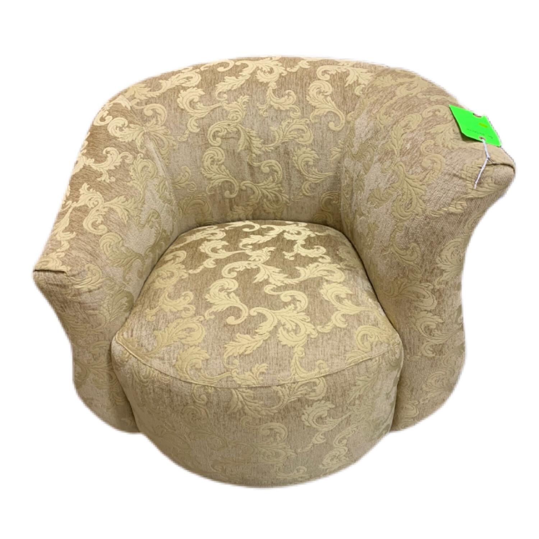 Beige Swivel Armchair