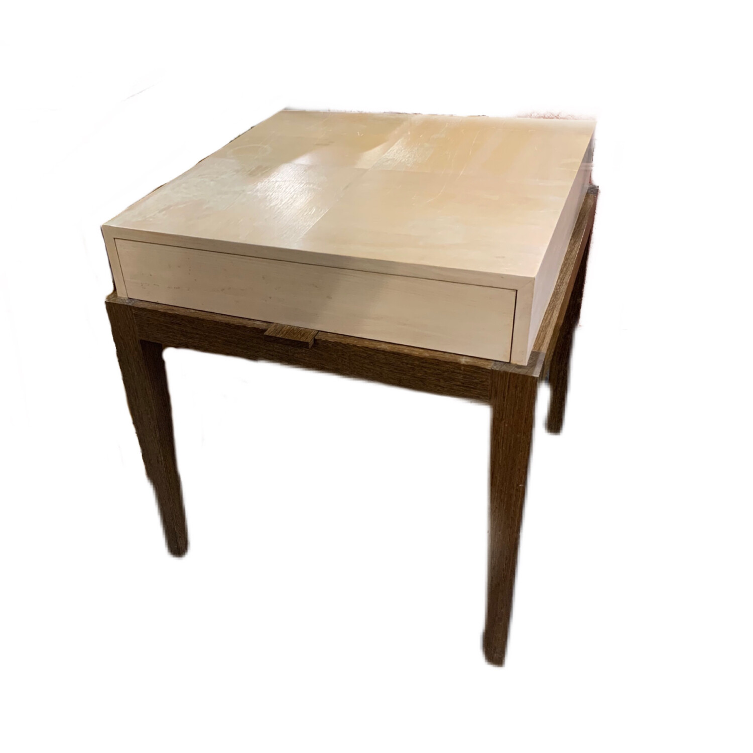 2 Tone Wooden Side Table