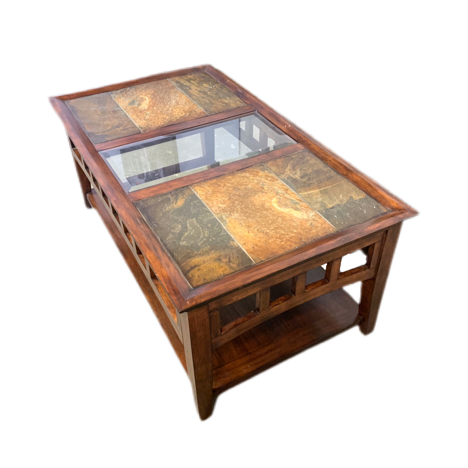 Stone Glass Top Coffee Table