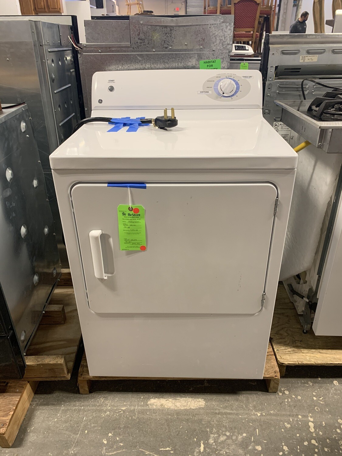 GE White Dryer(Electric)