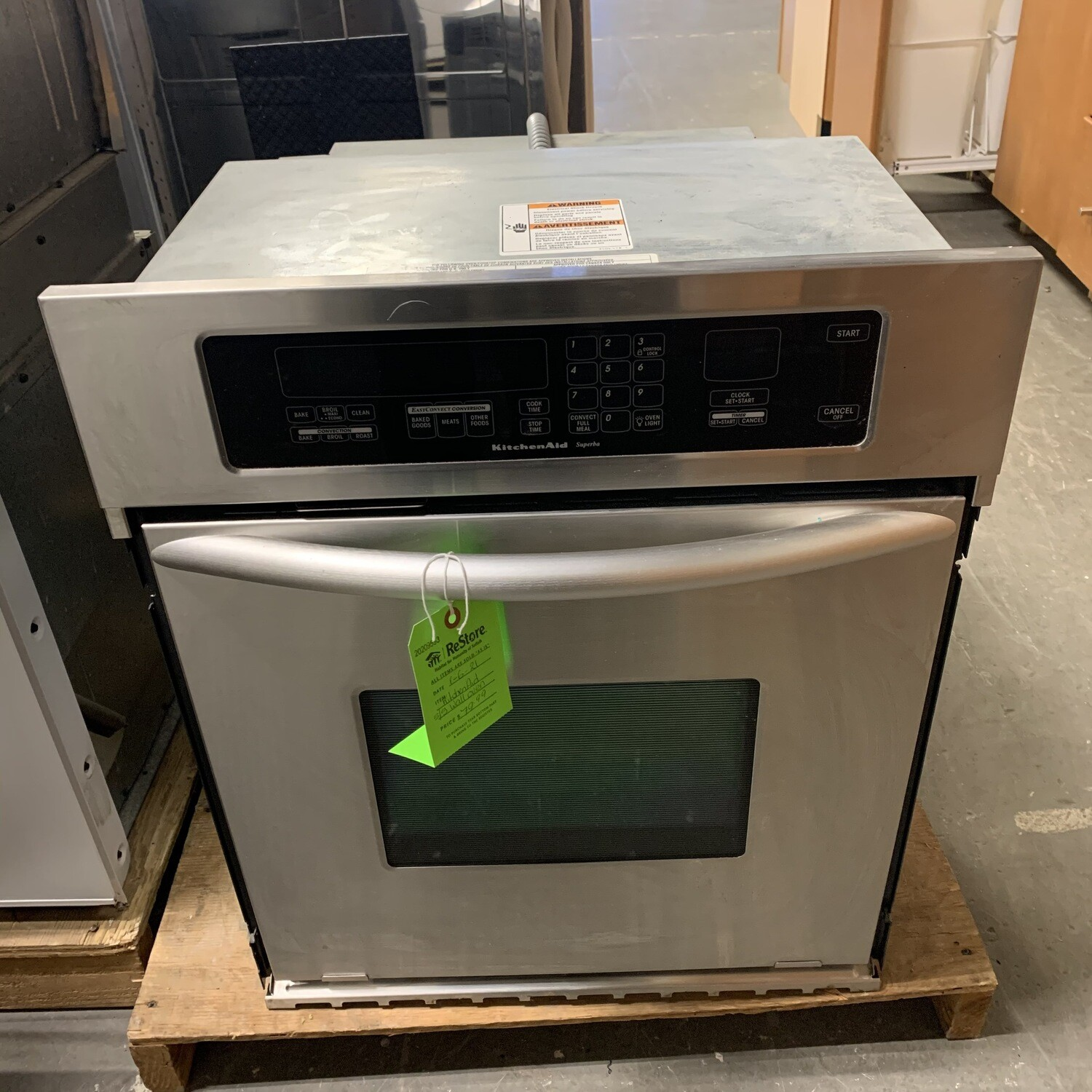 Kitchen Aid S/S Wall Oven
