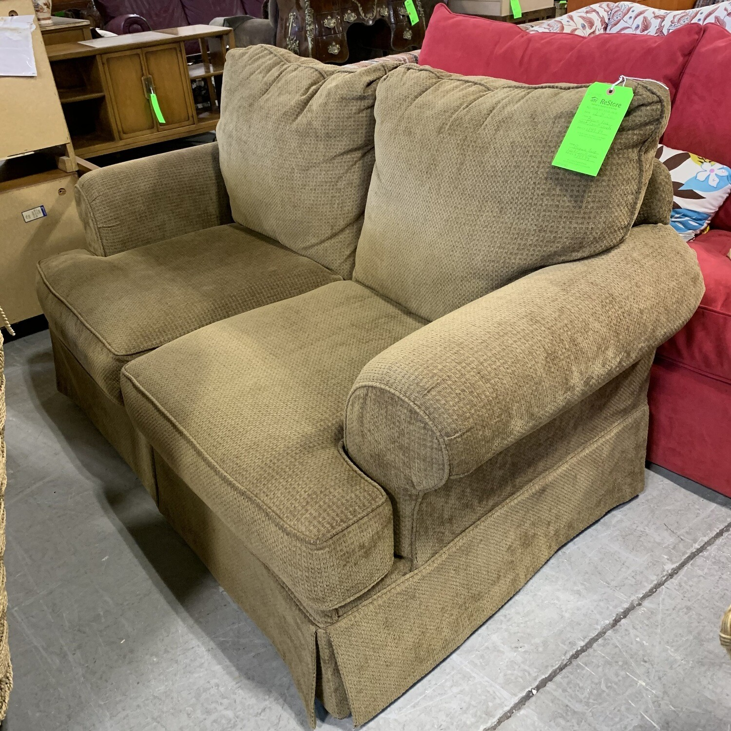 Brown Love Seat Small Couch
