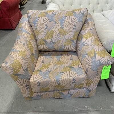 Pink Blue & Yellow Armchair( No feet)