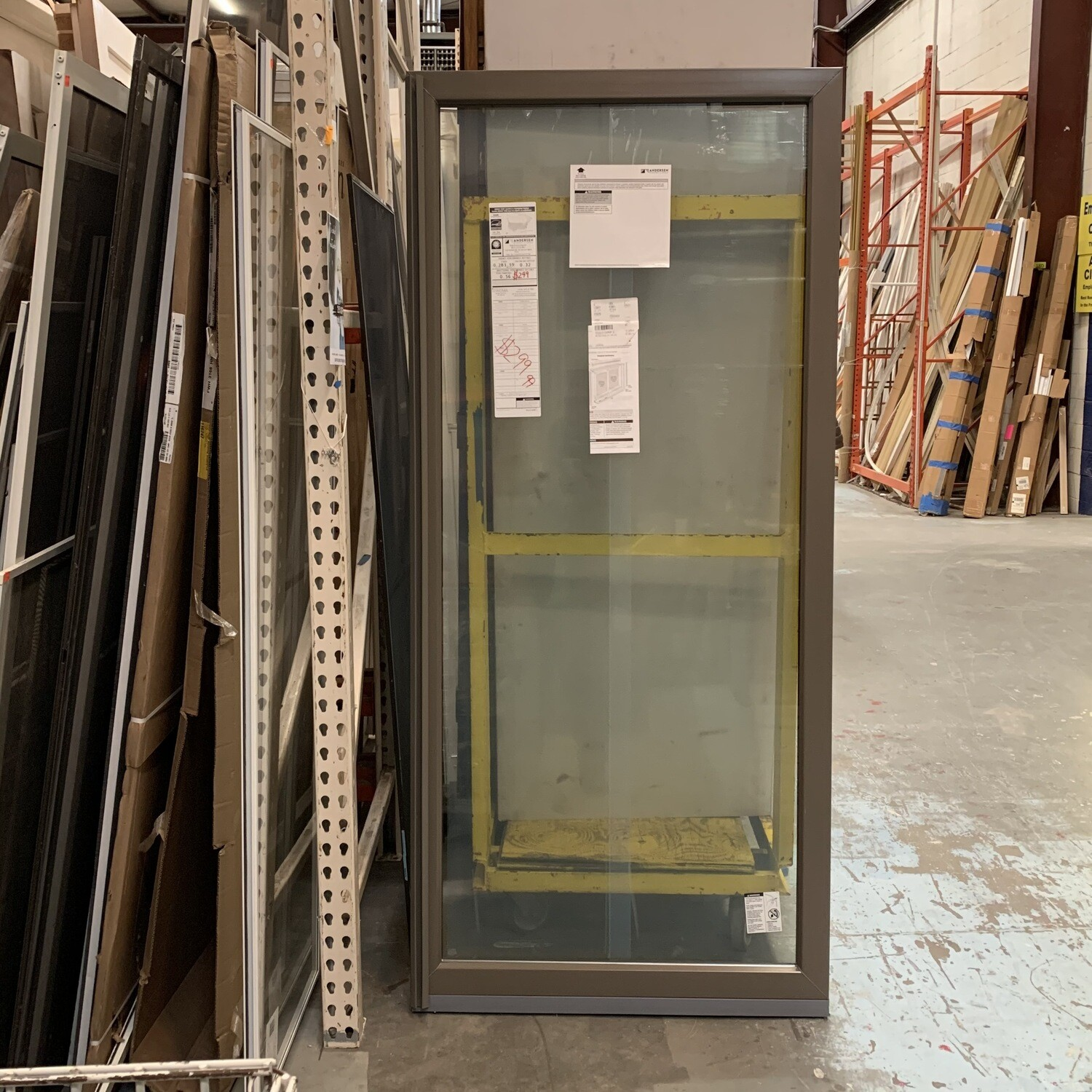 """Anderson Sliding Patio Door With Frame 36"""" 3/8 X 81"""""""