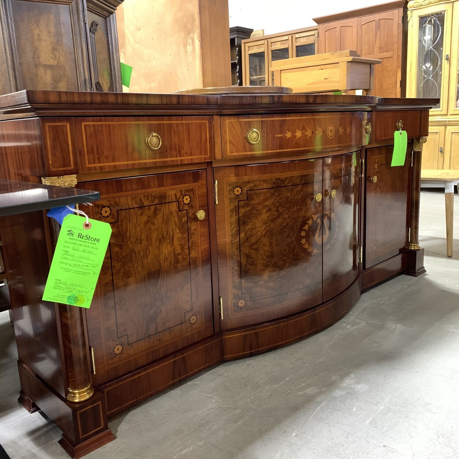 Sideboard With Brass Detail