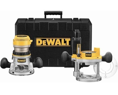 Dewalt 2-1/4 HP Electronic Variable Speed Fixed Base and Plunge Router With Carrying Case