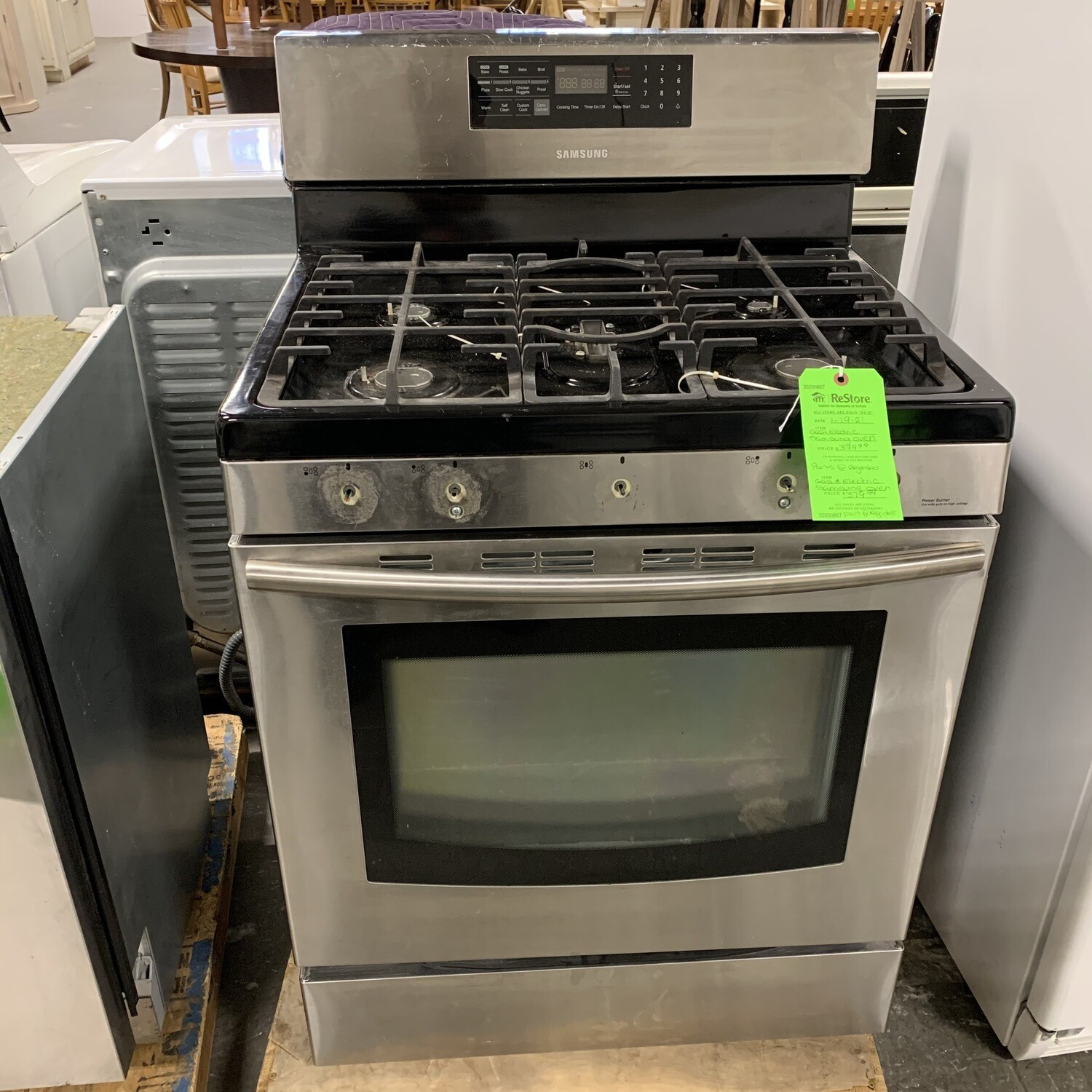 Gas & Electric Samsung Oven
