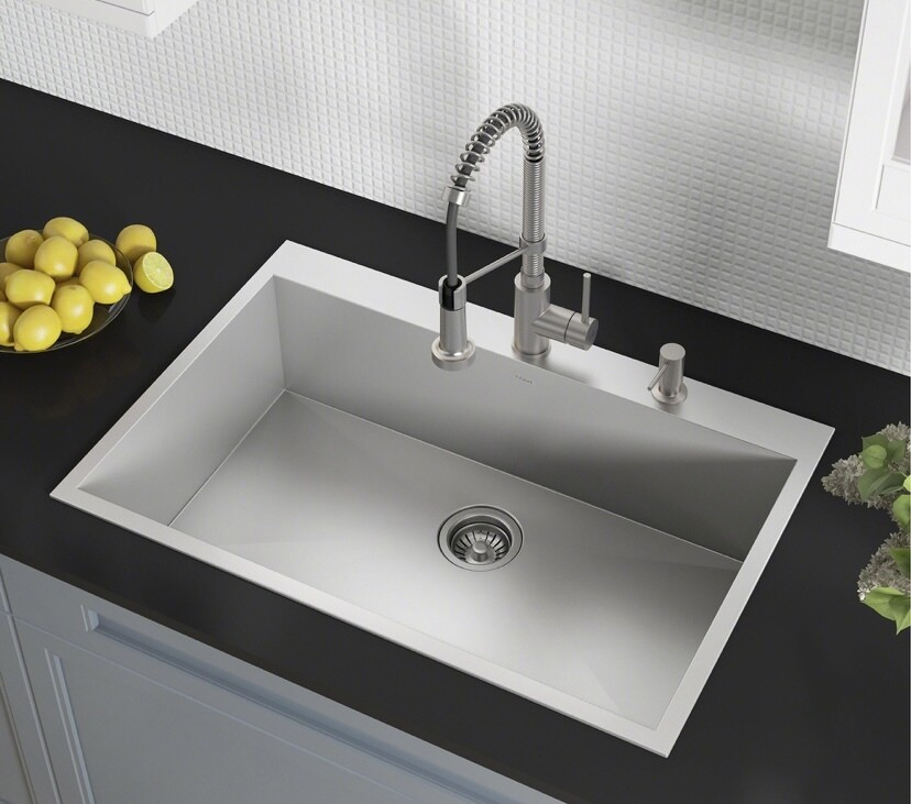 Kraus KP1TS33S-2 Topmount Kitchen Sink