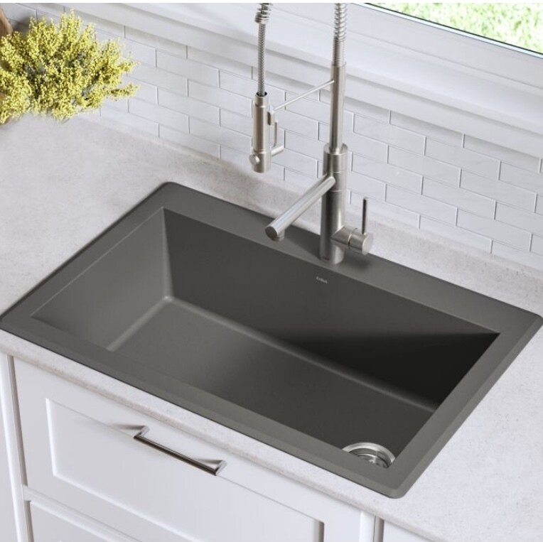 Kraus KGD-54Grey Dual Mount Kitchen Sink