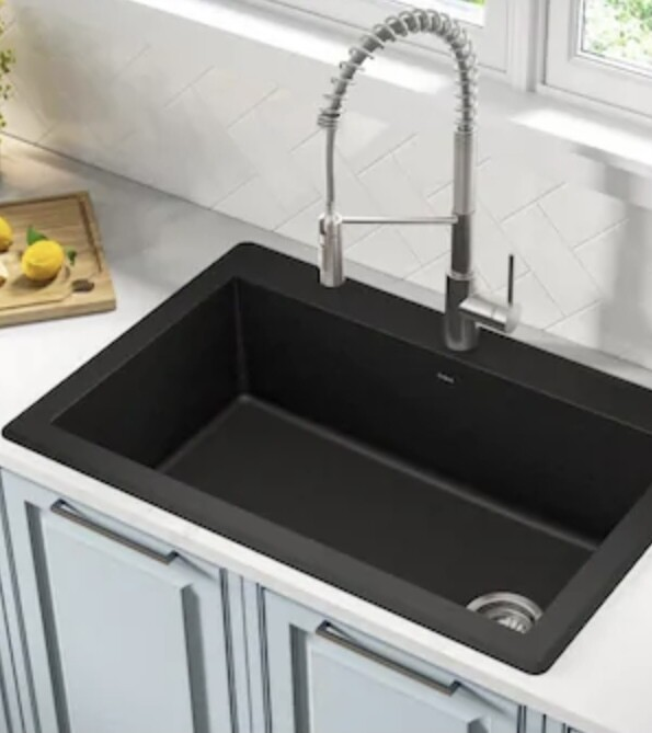 Kraus KGD-54B Dual Mount Kitchen Sink