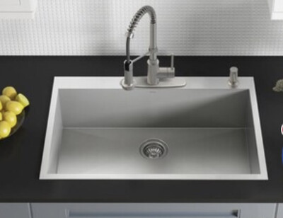 Kraus Kpits33s-4 Topmount Kitchen Sink
