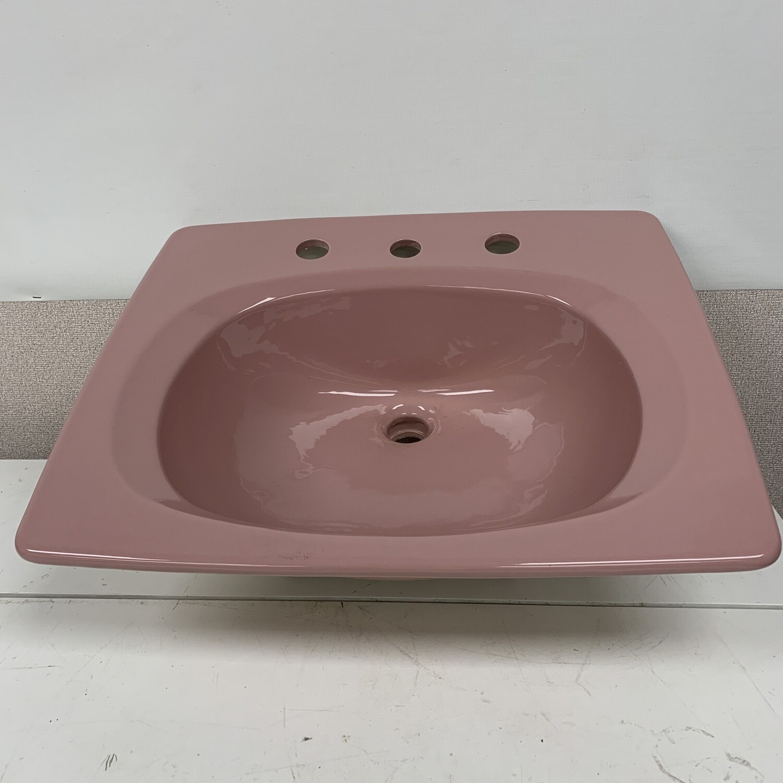 "Eijer Pink Self Rimming 22"" X 19"" Bathroom Sink"
