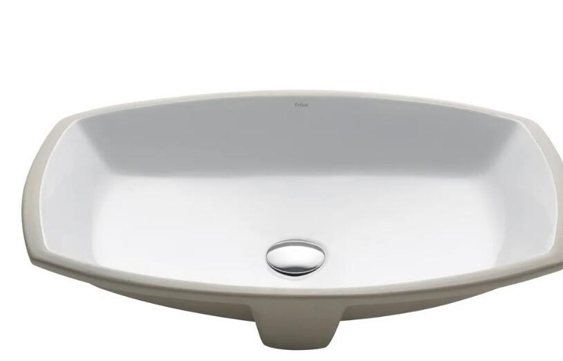 Kraus Kcu-261 Rectangular Undermount Bathroom Sink