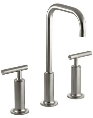 Kohler Bathroom Faucet With High Lever Handles & Gooseneck Spout