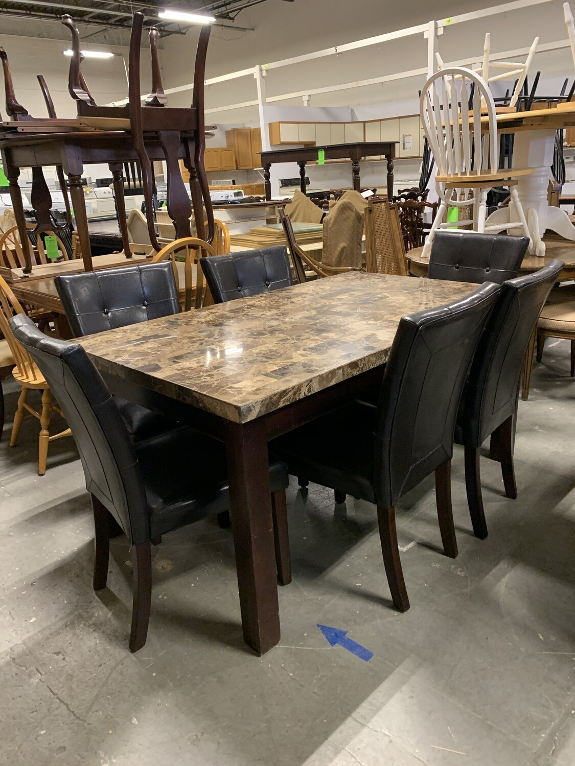 Granite Top Table With 6 Chairs