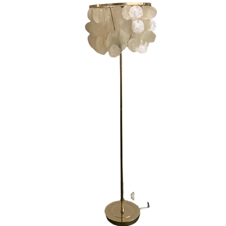 Pottery Barn Large Capiz Floor Lamp