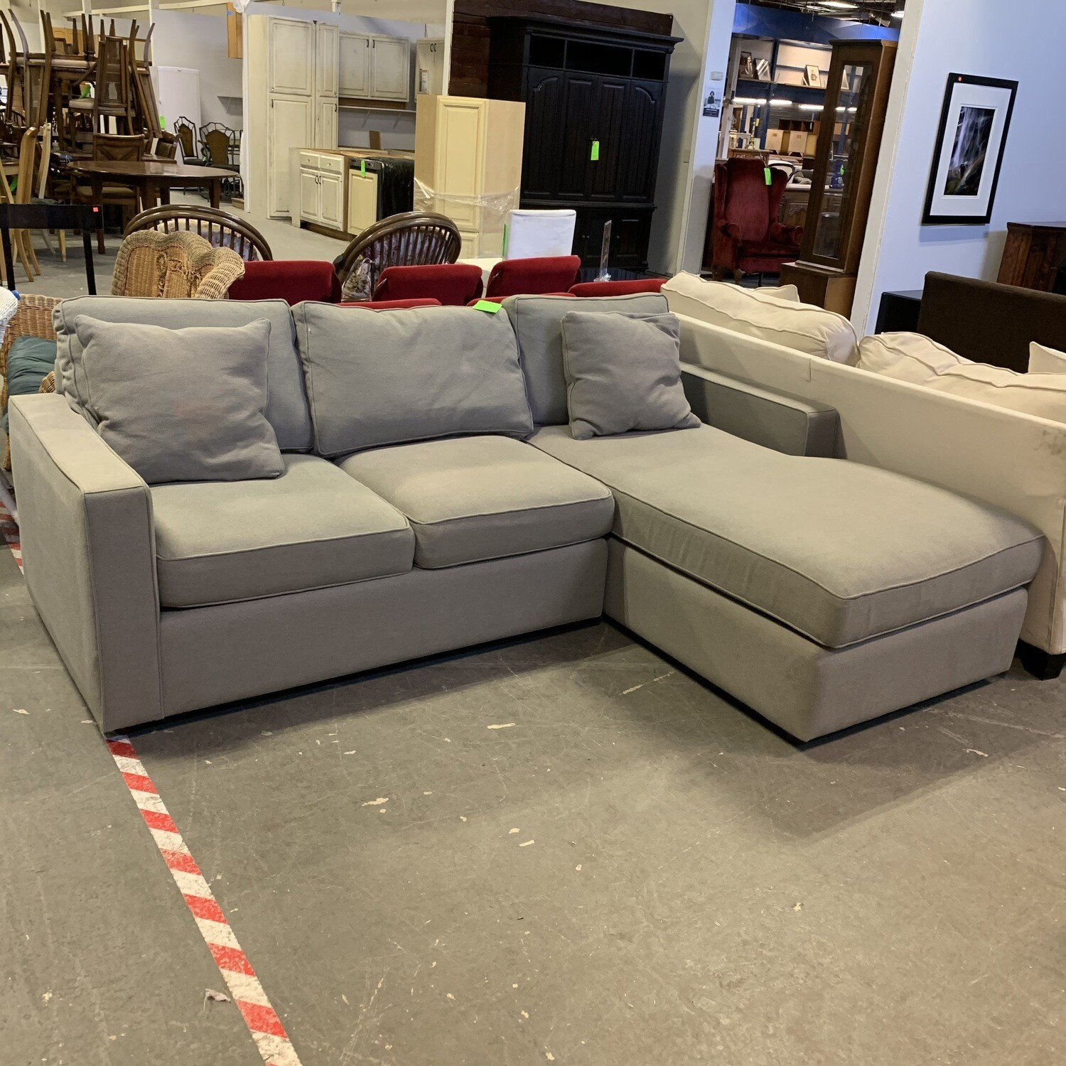 Room & Board Grey Sectional