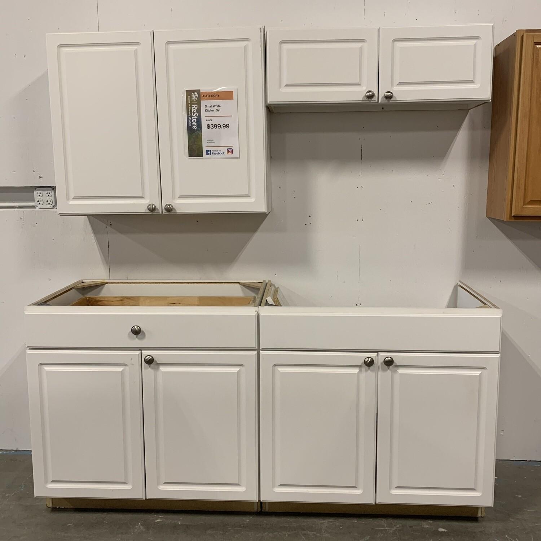 Small White Kitchen Set