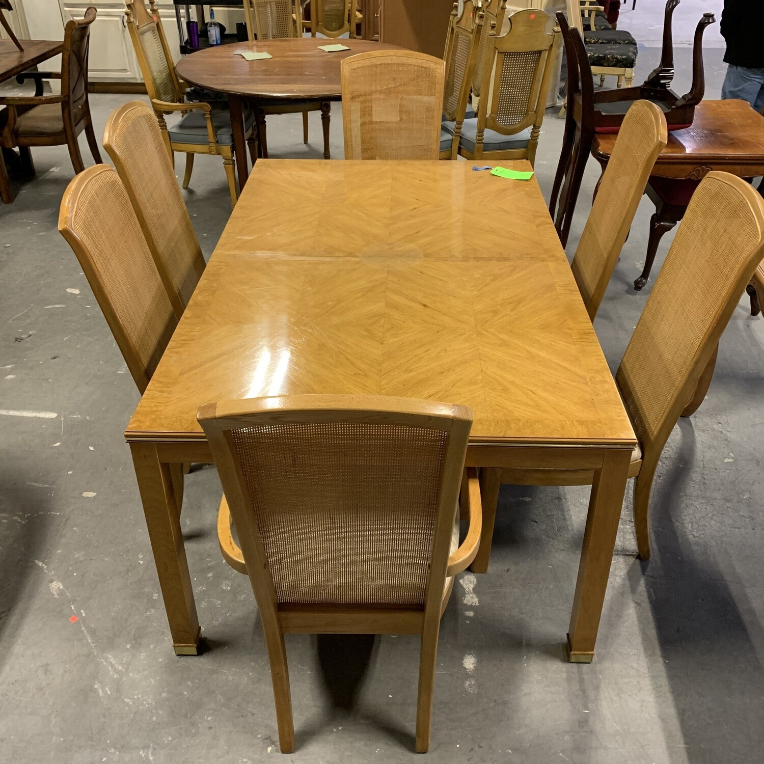 Dining Table & 6 Chairs Light Wood